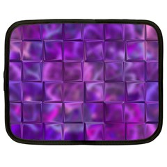 Purple Square Tiles Design Netbook Case (xl)  by KirstenStar