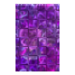 Purple Square Tiles Design Shower Curtain 48  X 72  (small)  by KirstenStar