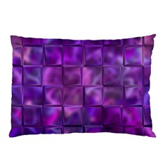 Purple Square Tiles Design Pillow Cases (two Sides) by KirstenStar