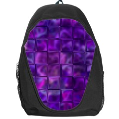 Purple Square Tiles Design Backpack Bag by KirstenStar