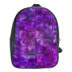 Purple Square Tiles Design School Bags (xl)  by KirstenStar