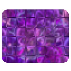 Purple Square Tiles Design Double Sided Flano Blanket (medium)  by KirstenStar
