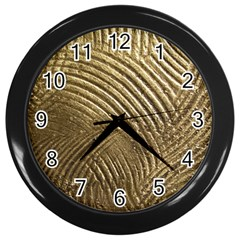 Brushed Gold 050549 Wall Clocks (black) by AlteredStates