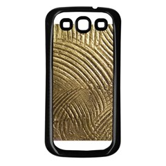 Brushed Gold 050549 Samsung Galaxy S3 Back Case (black) by AlteredStates