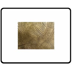 Brushed Gold 050549 Double Sided Fleece Blanket (medium)  by AlteredStates