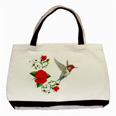 Red Roses Decor Clipart Basic Tote Bag (two Sides)  by AlteredStates