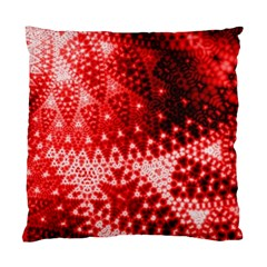 Red Fractal Lace Standard Cushion Case (one Side)  by KirstenStar