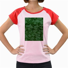 Woven Skin Green Women s Cap Sleeve T Shirt by InsanityExpressed