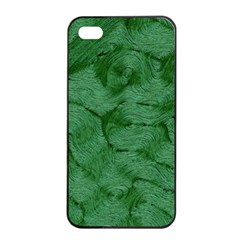 Woven Skin Green Apple Iphone 4/4s Seamless Case (black) by InsanityExpressed