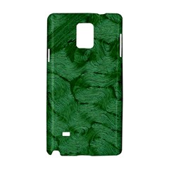 Woven Skin Green Samsung Galaxy Note 4 Hardshell Case by InsanityExpressed