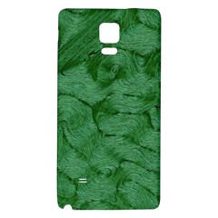 Woven Skin Green Galaxy Note 4 Back Case by InsanityExpressed