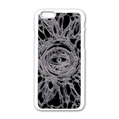 The Eye Apple Iphone 6 White Enamel Case by InsanityExpressed