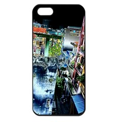 Colour Street Top Apple Iphone 5 Seamless Case (black) by InsanityExpressed