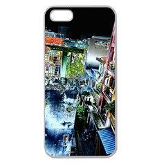 Colour Street Top Apple Seamless Iphone 5 Case (clear) by InsanityExpressed