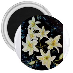 Bright Lilies 3  Magnets by timelessartoncanvas