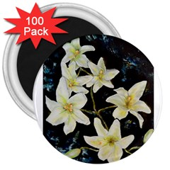 Bright Lilies 3  Magnets (100 Pack)