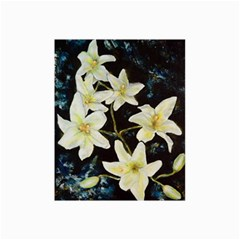 Bright Lilies Collage 12  X 18  by timelessartoncanvas