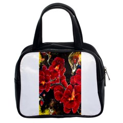 Red Orchids Classic Handbags (2 Sides) by timelessartoncanvas