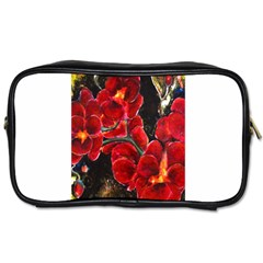 Red Orchids Toiletries Bags by timelessartoncanvas