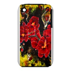 Red Orchids Apple Iphone 3g/3gs Hardshell Case (pc+silicone) by timelessartoncanvas