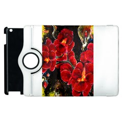 Red Orchids Apple Ipad 2 Flip 360 Case by timelessartoncanvas