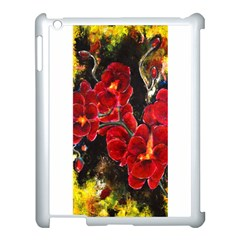 Red Orchids Apple Ipad 3/4 Case (white) by timelessartoncanvas