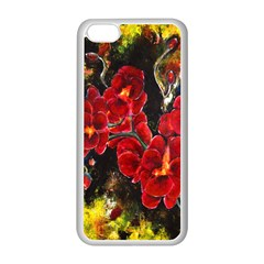 Red Orchids Apple Iphone 5c Seamless Case (white) by timelessartoncanvas
