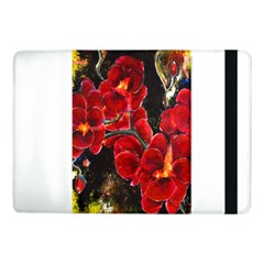 Red Orchids Samsung Galaxy Tab Pro 10 1  Flip Case by timelessartoncanvas