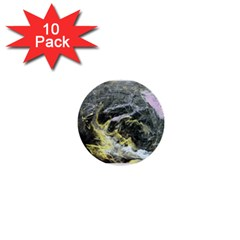 Black Ice 1  Mini Buttons (10 Pack)  by timelessartoncanvas