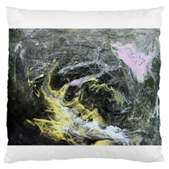 Black Ice Large Flano Cushion Cases (two Sides)  by timelessartoncanvas