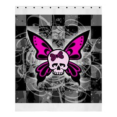 Skull Butterfly Shower Curtain 60  X 72  (medium)  by ArtistRoseanneJones