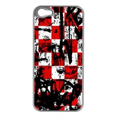Emo Checker Graffiti Apple Iphone 5 Case (silver) by ArtistRoseanneJones