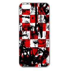 Emo Checker Graffiti Apple Seamless Iphone 5 Case (clear) by ArtistRoseanneJones