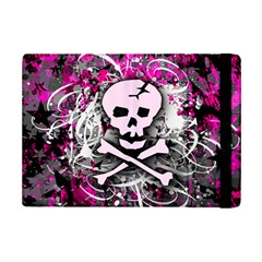 Pink Skull Splatter Ipad Mini 2 Flip Cases by ArtistRoseanneJones