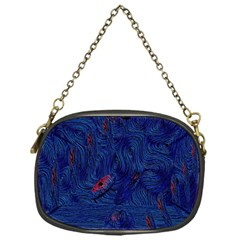 Blue Sphere Chain Purses (one Side)