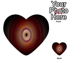 Colour Twirl Multi Purpose Cards (heart)  by InsanityExpressed