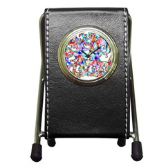 Soul Colour Light Pen Holder Desk Clocks by InsanityExpressed