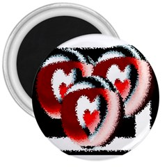 Heart Time 3 3  Magnets by InsanityExpressed
