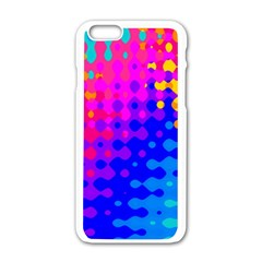Totally Trippy Hippy Rainbow Apple Iphone 6 White Enamel Case by KirstenStar