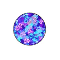 Blue And Purple Marble Waves Hat Clip Ball Marker (10 Pack) by KirstenStar