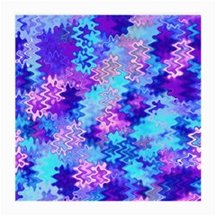Blue And Purple Marble Waves Medium Glasses Cloth by KirstenStar