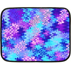 Blue And Purple Marble Waves Fleece Blanket (mini) by KirstenStar