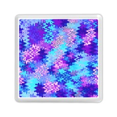 Blue And Purple Marble Waves Memory Card Reader (square)  by KirstenStar