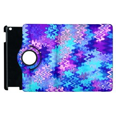 Blue And Purple Marble Waves Apple Ipad 2 Flip 360 Case by KirstenStar
