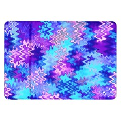Blue And Purple Marble Waves Samsung Galaxy Tab 8 9  P7300 Flip Case by KirstenStar