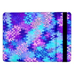 Blue And Purple Marble Waves Samsung Galaxy Tab Pro 12 2  Flip Case by KirstenStar