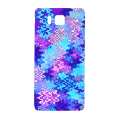 Blue And Purple Marble Waves Samsung Galaxy Alpha Hardshell Back Case by KirstenStar