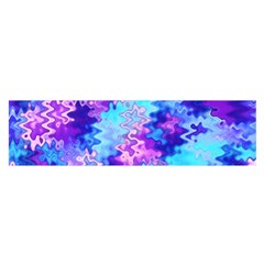 Blue And Purple Marble Waves Satin Scarf (oblong) by KirstenStar