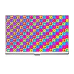 Crazy Yellow And Pink Pattern Business Card Holders by KirstenStar