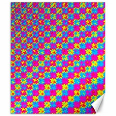 Crazy Yellow And Pink Pattern Canvas 20  X 24   by KirstenStar